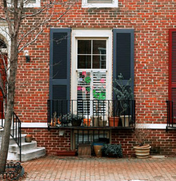 shutters on house in philadelphia