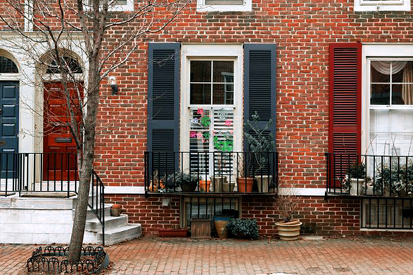 shutters on house in philadelphia